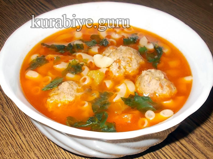 суп с фрикадельками томатный рецепт пошагово с фото