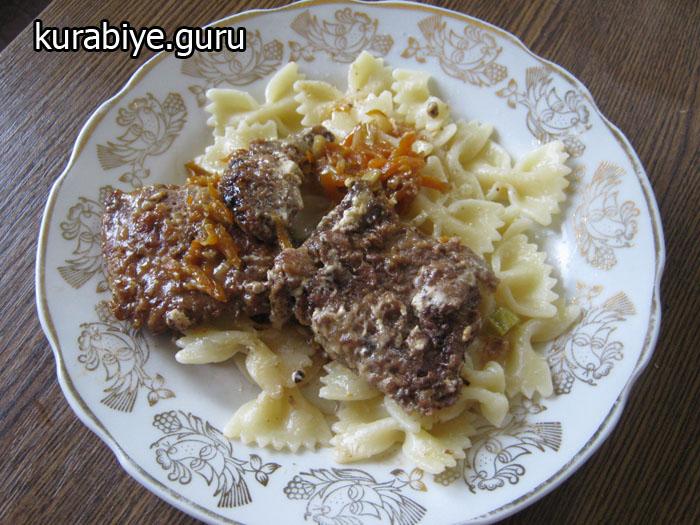 говяжья печень с луком и морковью в сметане рецепт с фото пошагово