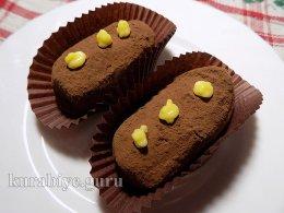 Пирожное Картошка из шоколадного бисквита