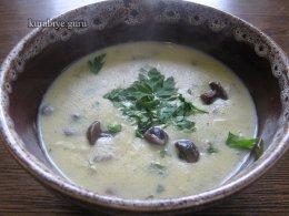 Грибной суп по-французски, рецепт