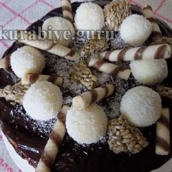 Орехово-кокосовый торт Рафаэлло