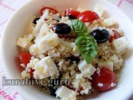 Салат с булгуром и брынзой