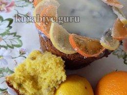 Цитрусовый кулич с апельсиново-лимонной цедрой