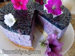 Торт черничный муссовый