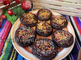 Шоколадное печенье рождественское