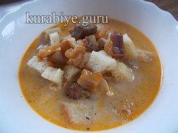 Сырный суп с пивом и беконом
