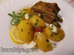 Рагу из баранины с фетой по-гречески