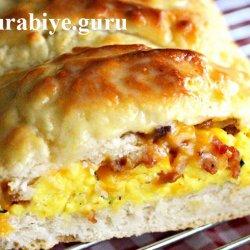 Пирог с омлетом и шкварками к завтраку